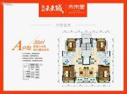 绿地未来城3室2厅1卫80--140平方米户型图