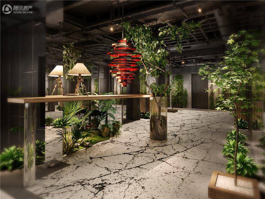蜂巢21-33层公寓走廊效果图