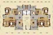 天明御华庭4室2厅2卫151--152平方米户型图