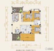 水岸欧韵3室2厅2卫102平方米户型图