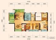 君汇上品3室2厅2卫119平方米户型图