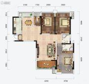 云星钱隆首府4室2厅2卫132平方米户型图