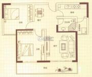 润城2室2厅1卫88平方米户型图