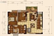 天府欧城3室2厅2卫89平方米户型图