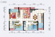 地铁首座3室2厅2卫84平方米户型图