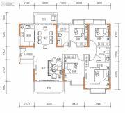 保华铂郡4室2厅2卫132平方米户型图