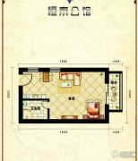 恒泰公馆1室1厅1卫32平方米户型图