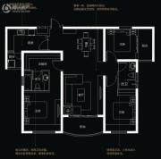 国润城3室2厅2卫125平方米户型图
