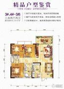 首座汇金广场3室2厅2卫0平方米户型图