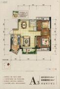 湖悦2室2厅1卫85平方米户型图
