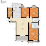 公园华府3室2厅2卫110平方米户型图