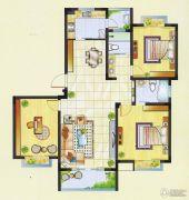 明瑞花园3室2厅2卫129平方米户型图