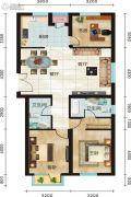 永新华・世界湾3室2厅2卫131平方米户型图