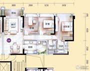 敏捷金月湾3室2厅2卫113平方米户型图