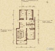 凯旋公馆3室2厅1卫110平方米户型图