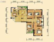 祥东金泰城4室2厅2卫129平方米户型图