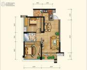 永立星城都2室2厅1卫79平方米户型图