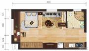 守拙园1室1厅1卫41--56平方米户型图