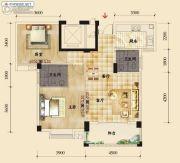 香岸华府二期2室2厅1卫88平方米户型图