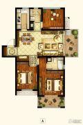 招商1872公园里3室2厅2卫105平方米户型图