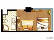 三庆・青年城1室1厅1卫35平方米户型图