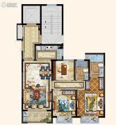 京都悦府3室2厅2卫96平方米户型图