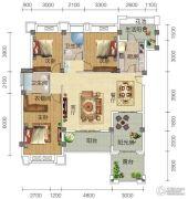 宏信依山郡3期3室2厅2卫147平方米户型图