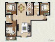 翡翠�m亭3室2厅2卫121平方米户型图