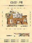 英伦世家4期2室2厅2卫119平方米户型图
