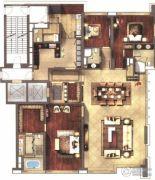 仁恒滨海中心4室2厅4卫306平方米户型图