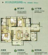 万科南方公元3室2厅2卫95平方米户型图
