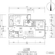 首开保利锦都家园2室1厅1卫0平方米户型图