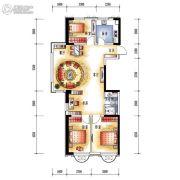 中央学府3室2厅1卫104平方米户型图