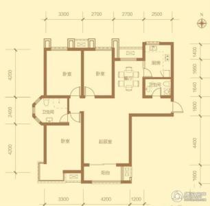 金屋·秦皇半岛17号楼标准层a户型29f-3
