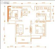 东方今典・中央城2室2厅1卫97平方米户型图