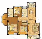 依云小镇3室2厅2卫131平方米户型图