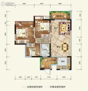 希望・玫瑰园3室2厅1卫89平方米户型图