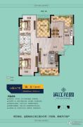 滨江花园3室2厅2卫105--117平方米户型图