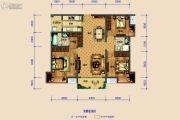 保利湖心岛3室2厅2卫114平方米户型图