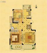 中南锦苑2室2厅1卫86平方米户型图