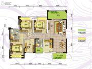 九曲御景4室2厅2卫111平方米户型图