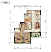 东岭国际城3室1厅2卫0平方米户型图