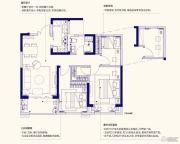 佳兆业城市广场3室2厅1卫87平方米户型图