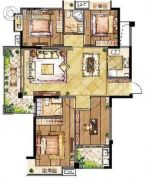 长宏国际城4室2厅2卫0平方米户型图