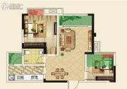 仁美大源印象2室2厅1卫68平方米户型图