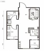 修正・一品汤城1室1厅1卫37平方米户型图