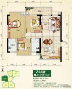 正元七里香溪3室2厅0卫108平方米户型图