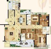 天悦湾4室2厅3卫148平方米户型图
