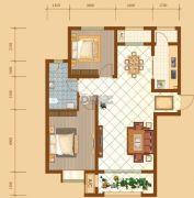昆河壹号2室2厅1卫95平方米户型图