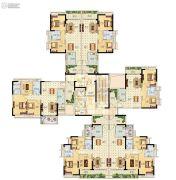 越秀滨海御城2室1厅1卫0平方米户型图